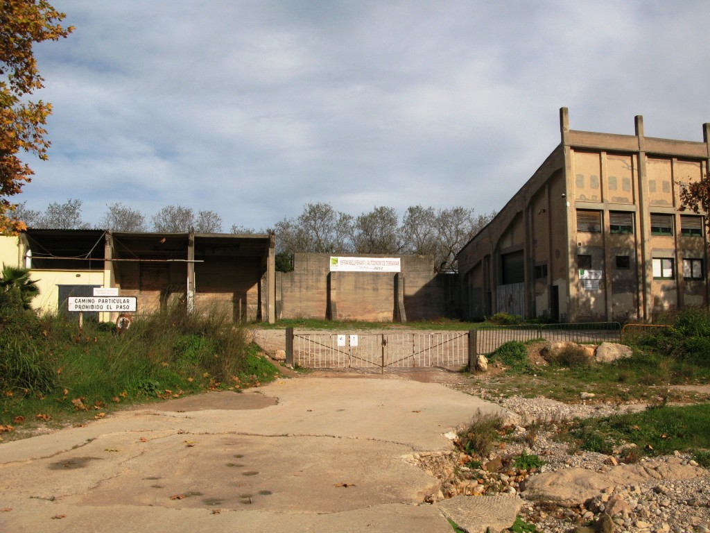 Sitges-Terramar track entrance