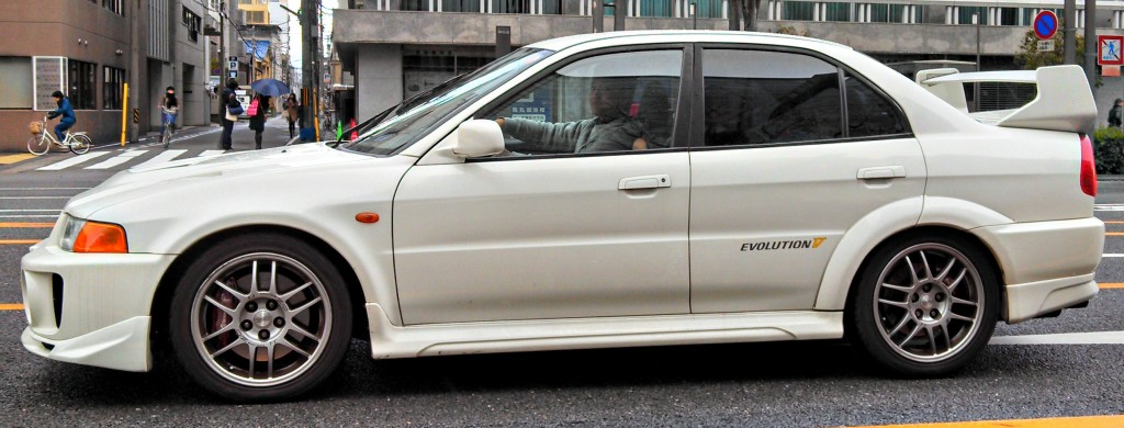 Mitsubishi Evo V in Kyoto