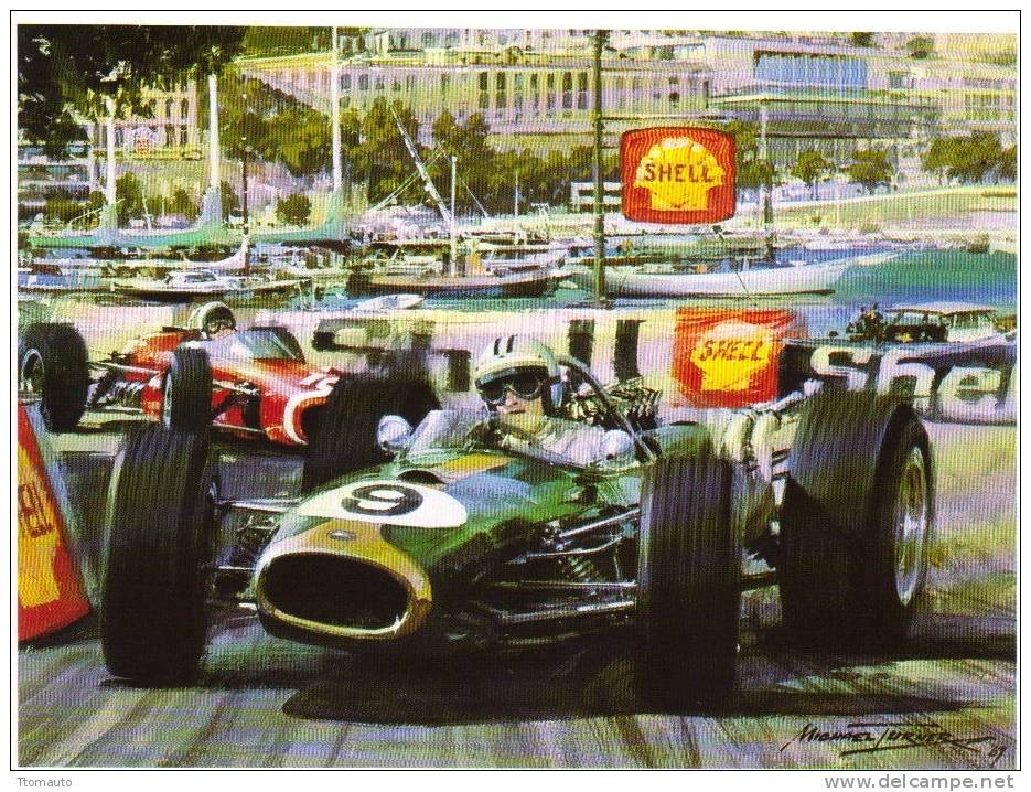 Brabham and Bandini, Monaco 68