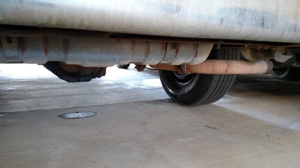 Van axle leak, brake fluid leak