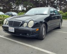 2002 Mercedes-Benz E55 AMG: 2200 miles in 10 days; reckon that has bedded in the new trans!